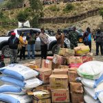 Antisipasi Covid-19 - Bupati Punca Jaya Bagi Sembako Sekaligus Sosialisasi ke 4 Distrik